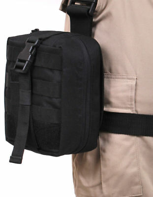 Black Drop Leg MOLLE Medical Military Tactical Pouch Rothco 20755
