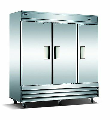 Vortex Refrigeration 3 Solid Door Freezer V-3F