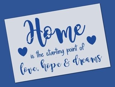Reusable Mylar Home love hope Stencil Template for Crafting decor Wall art