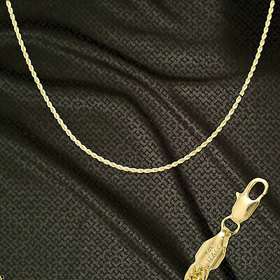 """14K ITALY GOLD PLATED 2mm ROPE CHAIN 24"""" QUALITY GUARANTEED SAME DAY SHIP R2H"""