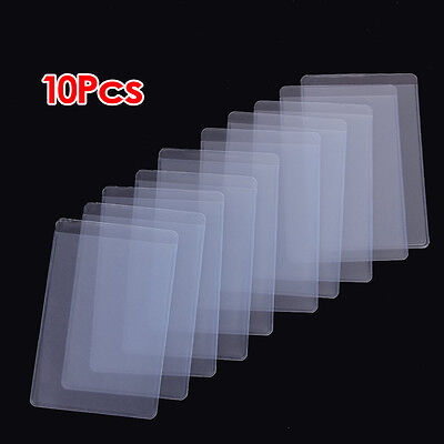 10Pcs Soft Clear Plastic Card Sleeves Protectors, for ID Cards DT