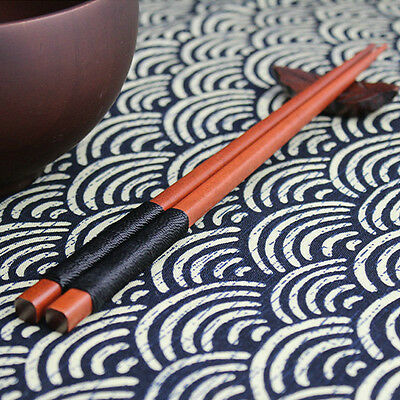 Elegant 1 Pairs Japanese Wood Chopsticks Set Value Gift Cooking Durable