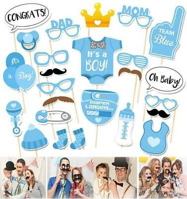 25pc It's A Boy Baby Shower Photo Booth Props Birthday New Born Party Decor