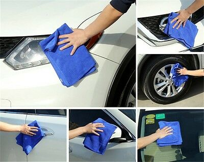 1/5/10pcs Large Soft Microfiber Absorbent Towel Car Cleaning Kitchen Wash Cloth