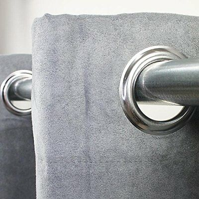 Curtain with Eyelets First United United Grey Suede  140x250 cm  Style