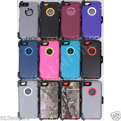 Defender Case for Apple iPhone 5/6/7/8 Plus/X With Belt Clip (Fits OtterBox )