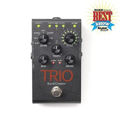 Digitech TRIO Band Creator Bass Drum Guitar Effects Pedal w/ Power Supply