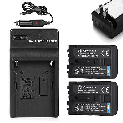 NP-FM50 Battery + Charger For Sony NP-FM30 NP-FM55H DSC-S30 DSC-S85 F707 F717