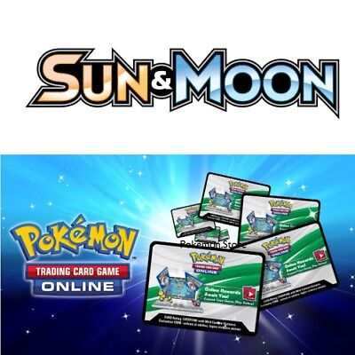 50 Sun & Moon BASE Set Codes Pokemon TCG Online Booster Pack - Emailed FAST!