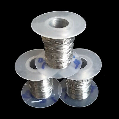 100FT 304 Stainless Steel Bright Wire Single Wire Full-Hard Rope 0.1to 0.6mm