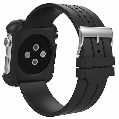 Apple Watch accessories, MoKo Rugged Protective Case with Wrist Band for 42mm Ap