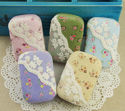 Pocket Eye Contacts Lens Box Case Holder Lace Floral Protable Travel Kit New