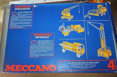 Meccano Enthusiasts 4  * Metallbaukasten  *  Original Meccano * Ovp * 1978