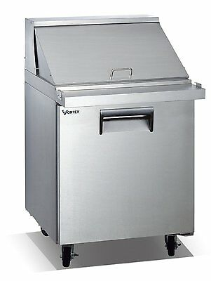 Vortex Refrigeration 1 Door Mega Top Sandwich Prep Table V-27SPT-1MT-12