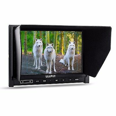 "Lilliput 339 7"" IPS 1280×800 HD 1080p Camera Field Monitor HDMI 2600mAh Battery"