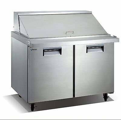 Vortex Refrigeration 2 Door Mega Top Sandwich Prep Table V-60SPT-2MT-24