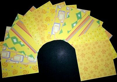 """*BOLD YELLOW*  Double-sided Scrapbooking/Cardmaking Papers - 15cm x15cm (6""""x 6"""")"""