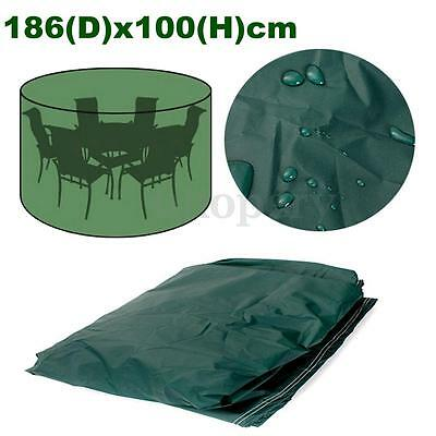 Waterproof Round Outdoor Garden Furniture Cover Snow Patio Table Chair Anti UV