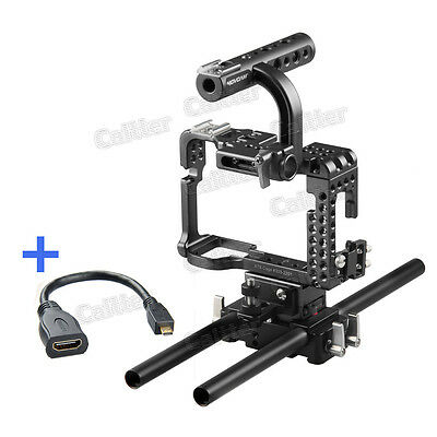 Movcam DSLR 15MM Baseplate Rig Cage For Sony A7S Camera Video +HDMI Cable