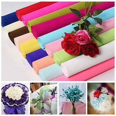 1 Roll DIY Flower Making Crepe Papers Wrapping Flowers Packing Material 250x50cm