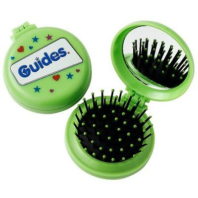 Guide Folding Hairbrush With Mirror Guides Uniform New