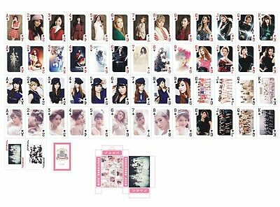 54pcs /1 Box Kpop Girls' Generation Collective Photo Picture Cards Poker Playing