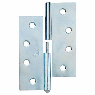 Trio DOOR BUTT HINGE Lift Off RIGHT HAND Indoor Zinc Plated 10x7.5x.16cm