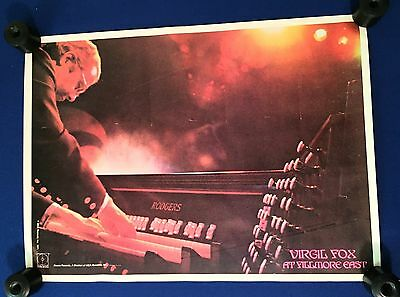 vintage 1971 Virgil Fox Live at Fillmore East LP PROMO POSTER Decca 19x26in