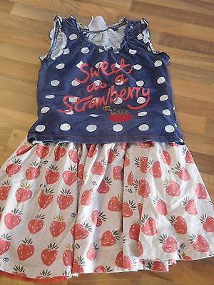 Next Strawberry Outfit Age 5-6 Years