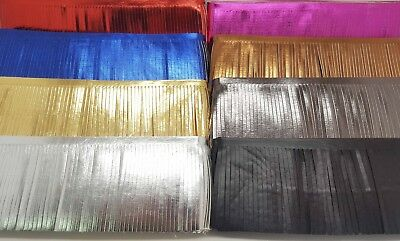 1metre FAUX LEATHER FRINGING TRIM, GOLD/SILVER 10cm wide, AVAILABLE IN 8 COLOUR