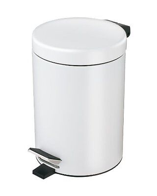 Exclusive Stainless Steel Cosmetic Pedal Bin, White, 3 litre