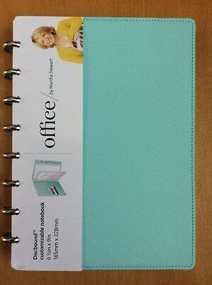 Martha Stewart Discbound Notebook Blue Junior Size Brand New 6.5 X 9 in