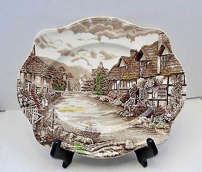 """Johnson Brothers Olde English Country Side Serving Platter-12"""" Long EUC"""