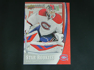 2015-16 Upper Deck UD Star Rookies #2 Mike Condon Montreal Canadiens ROOKIE RC