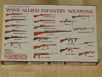 Dragon 1/35 Quartermaster Series WWII Allied Infantry Weapons NIB