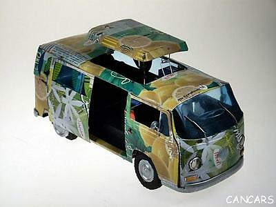 Volkswagen Bus T2 Camping M 1:18  Code M Blechmodelle Bully Bus Recycling Auto