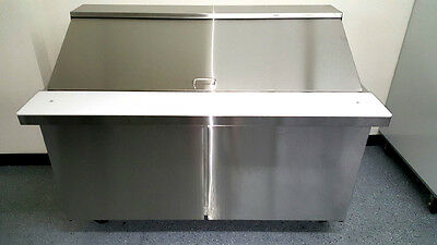 "New SCLM2-60  60"" Stainless Steel Salad Prep Table Station Refrigerator Mega Top"