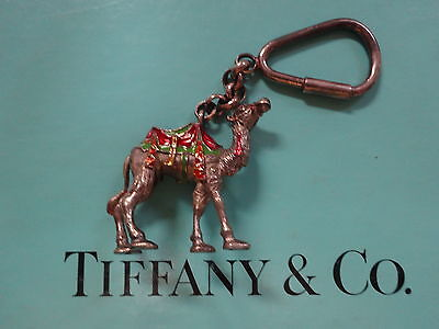 Very rare Tiffany & Co sterling silver Gene Moore circus camel keychain key ring