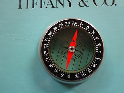 Tiffany & Co sterling silver compass from 1973 nautical very rare vintage