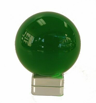 "2 1/4"" Feng Shui Green Crystal Round Sphere Ball with Crystal Stand"