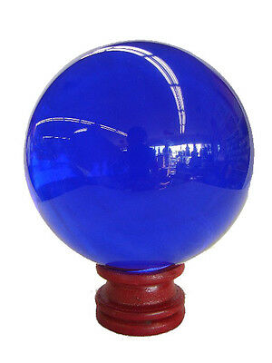 60mm Feng Shui Blue Round Crystal Sphere Ball
