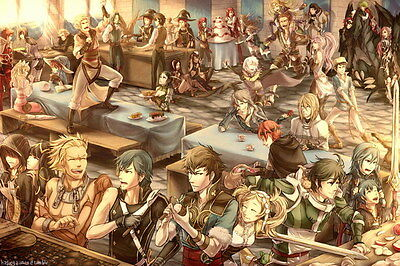 "021 Fire Emblem - Fight Hero Japan Hot Action Game 21""x14"" Poster"