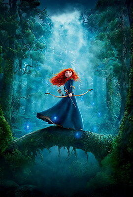 "027 Brave - Pixar Merida Cartoon Movie 14""x21"" Poster"