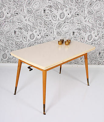 50s blondwood formica top dining TABLE height & size adj. mesa tavolo a 50 a50