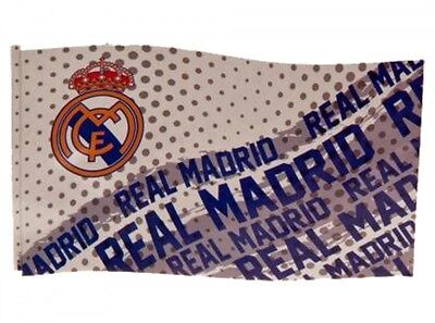 Real Madrid FC Football Impact Flag White Blue Supporter Fan Match Game Banner
