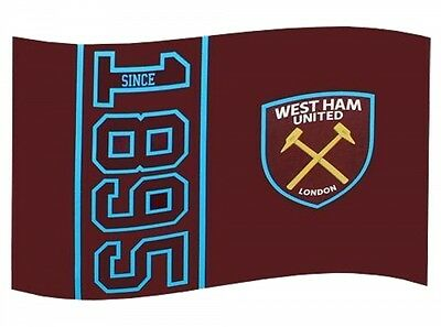 West Ham Utd FC Football Since 1895 Flag Claret Blue Supporter Fan Match Banner
