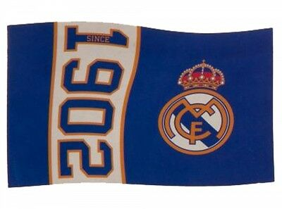 Real Madrid FC Football Since 1902 Flag Blue White Supporter Fan Match Banner