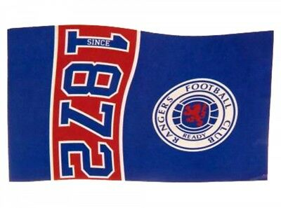 Glasgow Rangers FC Football Since 1872 Flag Blue Red Supporter Fan Match Banner