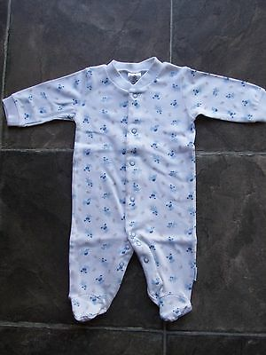 BNWT Baby Boy's Blue Dogs Cotton Knit Coverall/Onesie/Romper Size 000