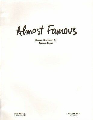 Kate Hudson Billy Crudup - Screenplay ALMOST FAMOUS 2000 by Cameron Crowe #48